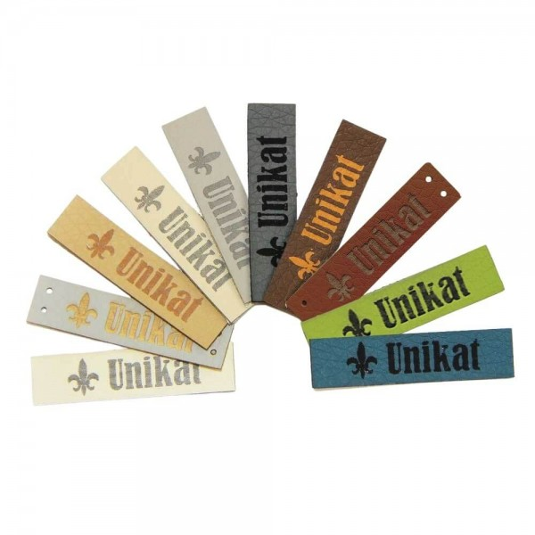"Artificial leather labels ""unikat"""