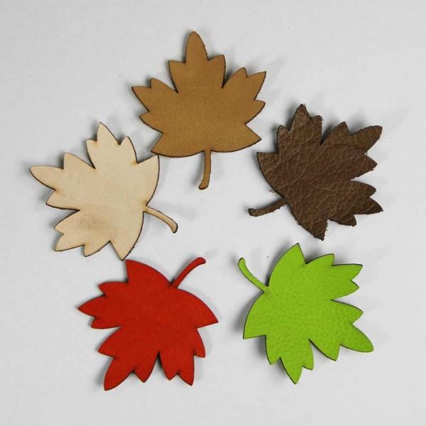 """Blätter-Bastelset """"Herbst"""" aus Leder, 5-teilig"""
