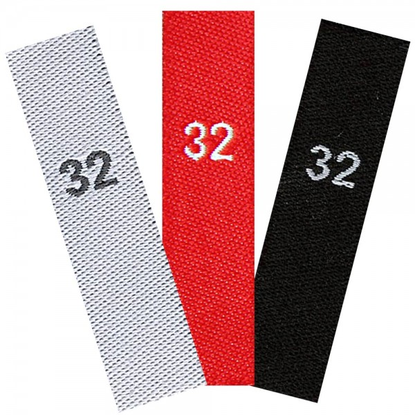 woven size labels - number 32