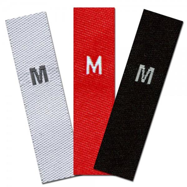 gewebte Größenetiketten M