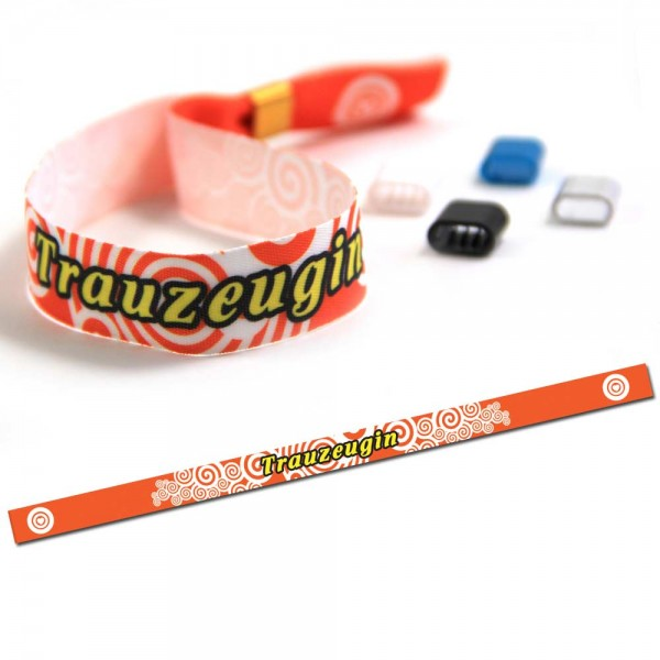 "Party Wristband ""Trauzeugin"" Design 2"