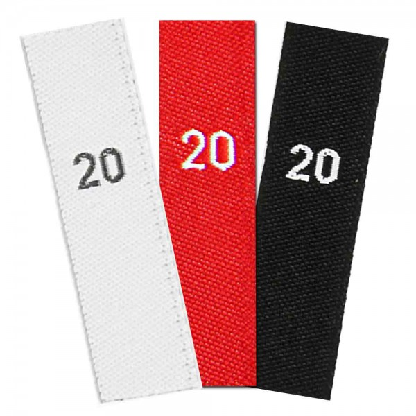 woven size labels - number 20