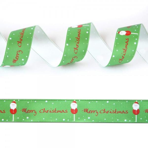 Satin-Geschenkband Merry Christmas 2, Dekoband