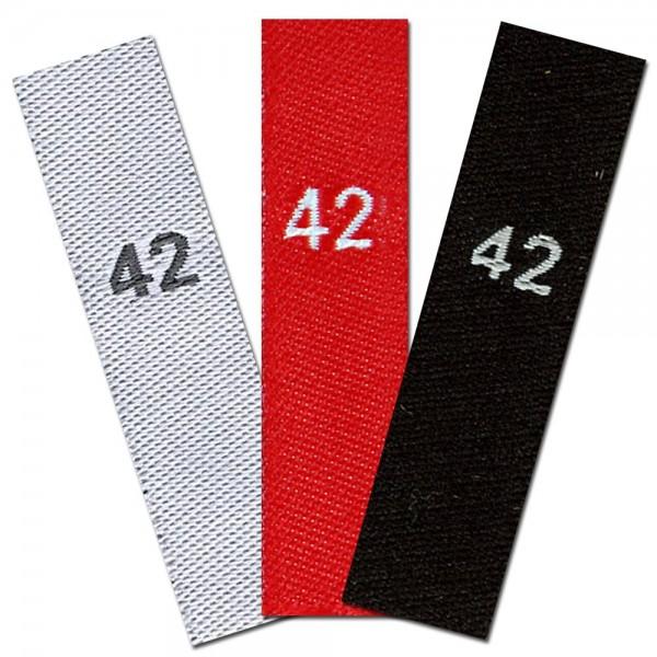 taille étiquettes tissées avec le chiffre 42