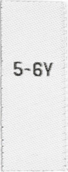 Größenetiketten für Kinder 5-6y