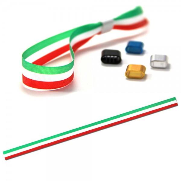 National- oder Vereinsarmband grün-weiß-rot, Eintrittsband