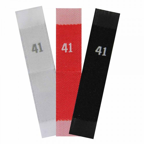woven size labels - number 41