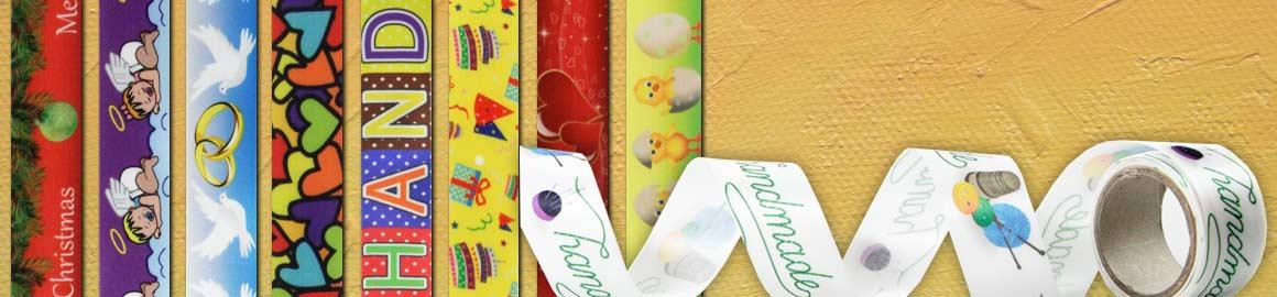 Satinbänder-Geschenkbänder-bedruckt-Weihnachten-Ostern-handmade-Taufe-Hochzeitsband