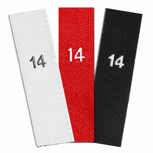 woven size labels - number 14