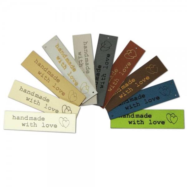 Kunstleder-Etiketten-handmade