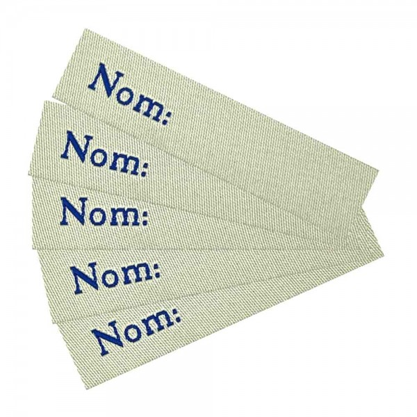 """Iron-on Woven write-on labels """"Nom"""""""