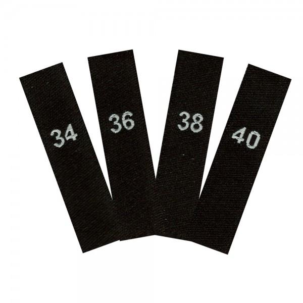 Größenetiketten Set 34-40 - Angebot, Textiletiketten
