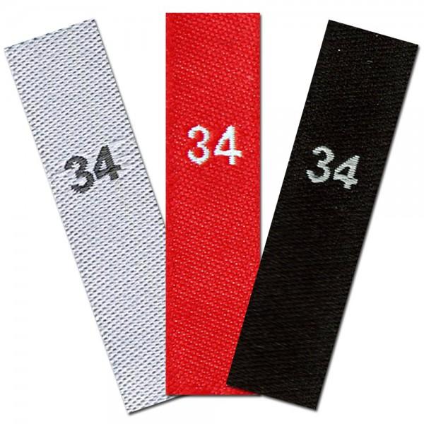 gewebte Größenetiketten 34