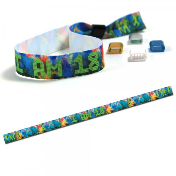 "Partyarmband ""I am 18"" Design 2, Eintrittsband"