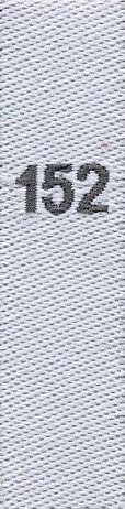 Gewebte Größenetiketten für Kinder 152