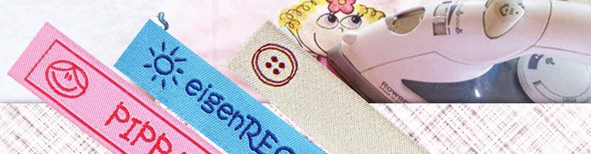 100 Wäscheetiketten Bügeletiketten Namensbänder Bügeln