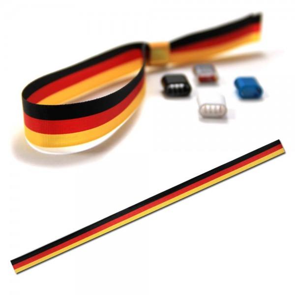 National- oder Vereinsarmband schwarz-rot-gelb, Eintrittsband