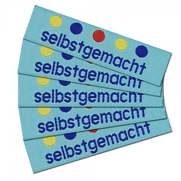"Woven Label with design ""selbstgemacht 2"""