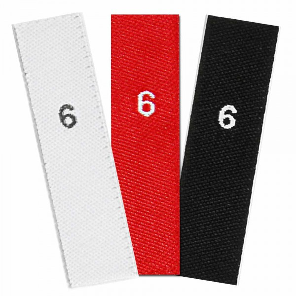 woven size labels - number 9