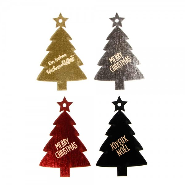"Hang tag ""Merry Christmas"" Christmas Tree - glossy"