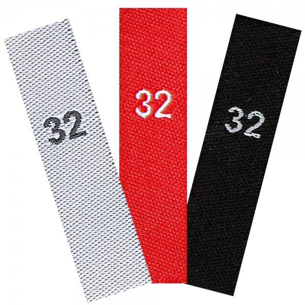 gewebte Größenetiketten 32