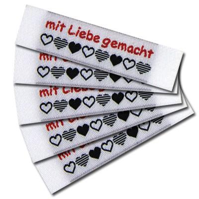 """Fix&Fertig - Label with design """"mit Liebe gemacht"""" 5"""