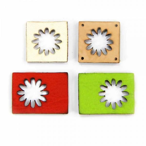 Lederetiketten-leder-label-Blume-Ausschnitt