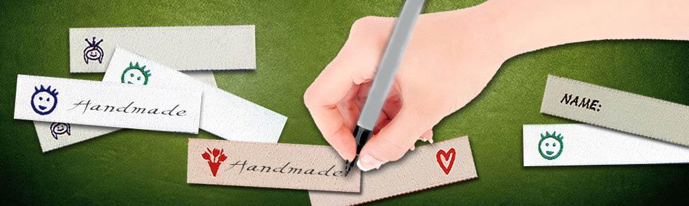 Namensetiketten-Beschriften-gewebt