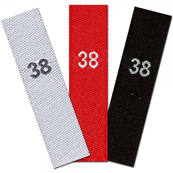 woven size labels - size 38