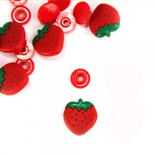 Plastic Pins - Strawberry (Kam Snaps)