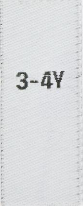 Größenetiketten für Kinder 3-4y