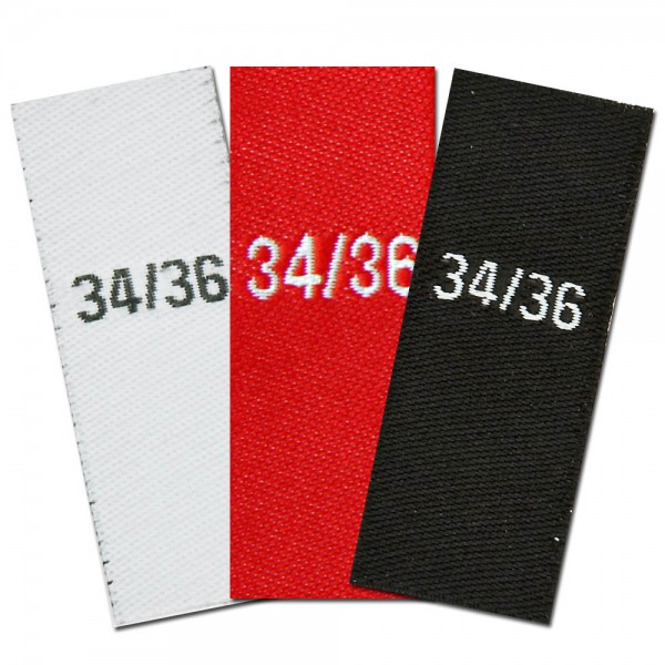 woven size labels - size 34/36