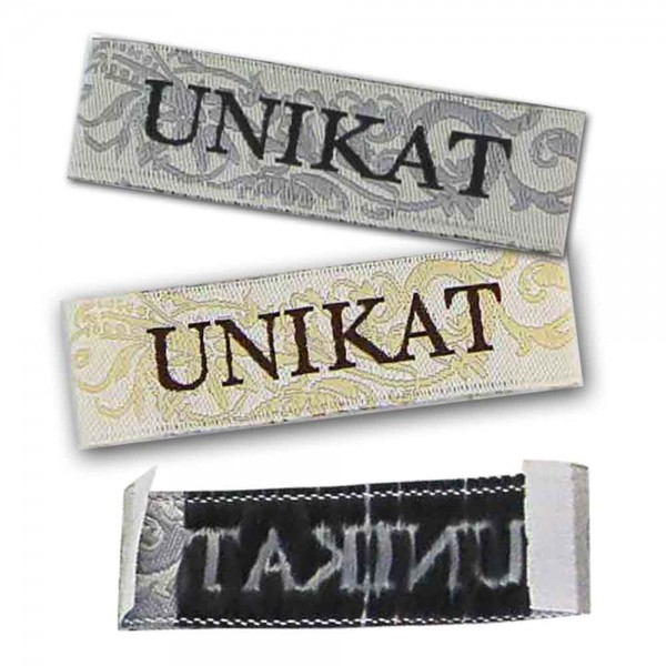 "Textiletiketten ""Unikat"", Webetiketten"