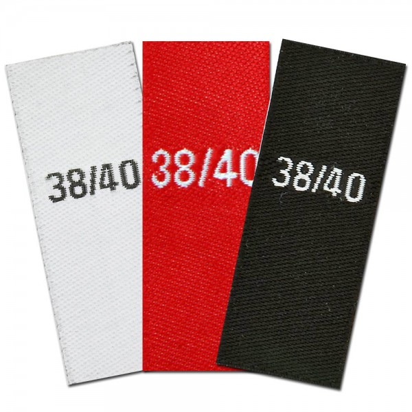 woven size labels - size 38/40