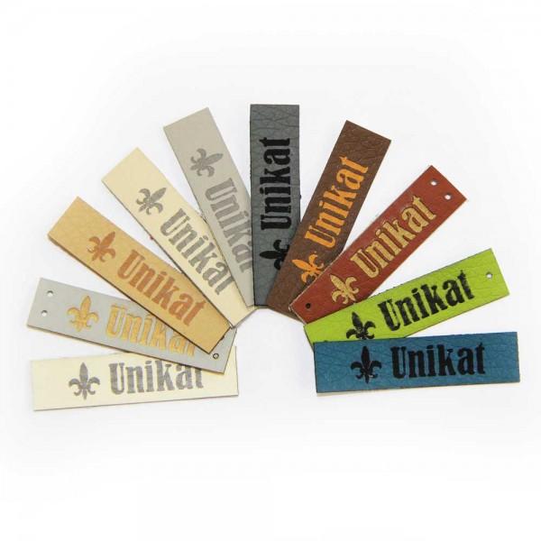 """Artificial leather labels """"unikat"""""""
