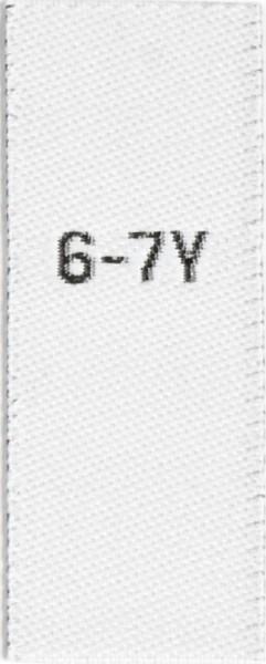Größenetiketten für Kinder 6-7y